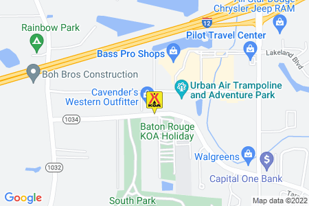 Baton Rouge KOA Holiday Map