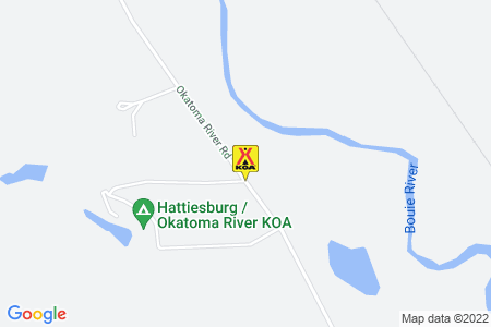 Hattiesburg / Okatoma River KOA Map