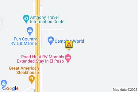 El Paso West / Anthony KOA Map