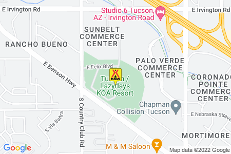 Tucson / Lazydays KOA Map