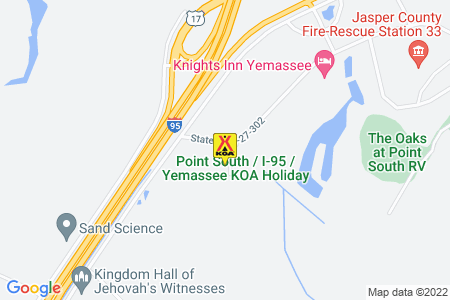 Point South / I-95 / Yemassee KOA Map
