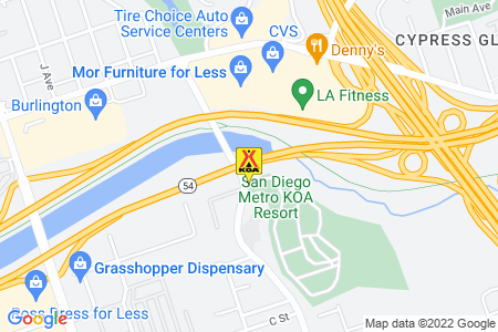San Diego Metro KOA Resort Map