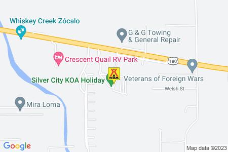 Silver City KOA Map