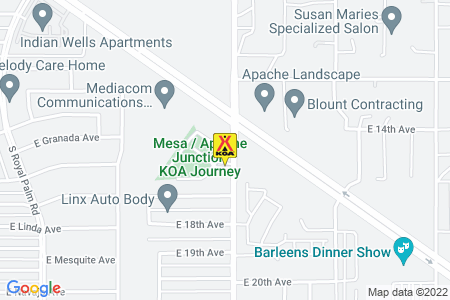 Mesa / Apache Junction KOA Map