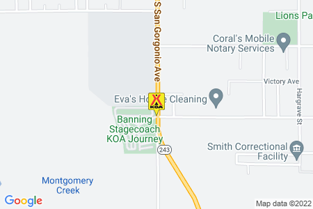 Banning Stagecoach KOA Map