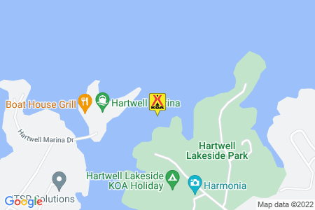 Hartwell Lakeside KOA Map
