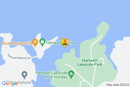 Hartwell Lakeside KOA Holiday Map
