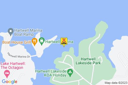 Hartwell Lakeside KOA Map