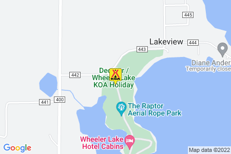 Decatur / Wheeler Lake KOA Holiday Map