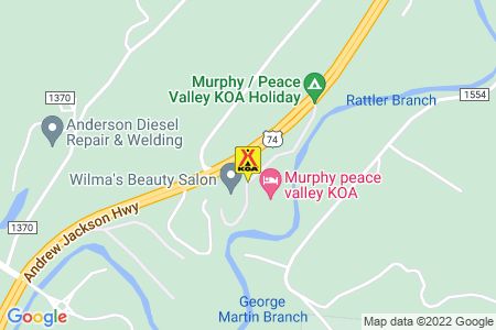 Murphy / Peace Valley KOA Map