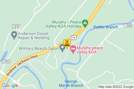 Murphy / Peace Valley KOA Holiday Map