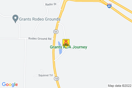 Grants / Cibola Sands KOA Map