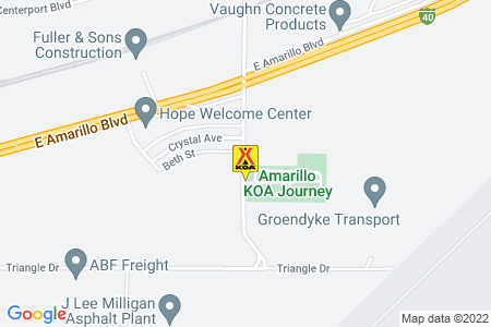 Amarillo KOA Map