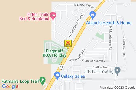 Flagstaff KOA Map
