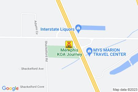Memphis KOA Map