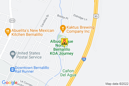 Albuquerque North / Bernalillo KOA Map