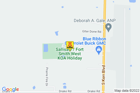 Sallisaw / Fort Smith West KOA Map