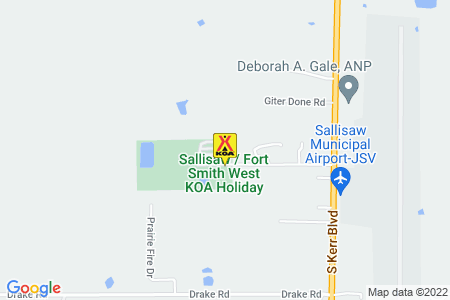 Sallisaw / Fort Smith West KOA Holiday Map
