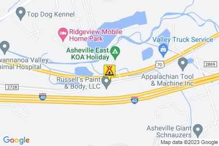 Asheville East KOA Map