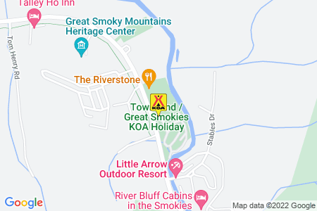 Townsend / Great Smokies KOA Holiday Map