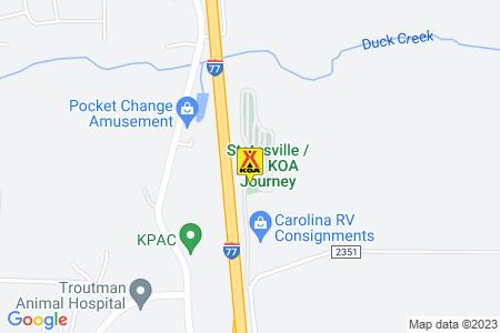 Statesville / I-77 KOA Map