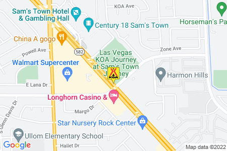 Las Vegas KOA at Sam's Town Map
