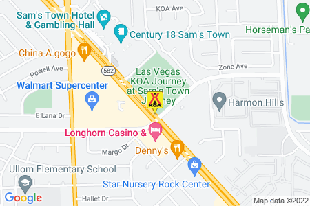 Las Vegas KOA Journey at Sam's Town Map