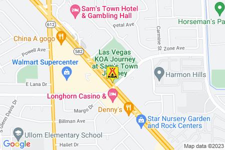 Las Vegas KOA Journey at Sam's Town Map