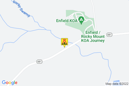 Enfield / Rocky Mount KOA Map