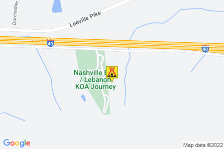 Nashville East / Lebanon KOA Map