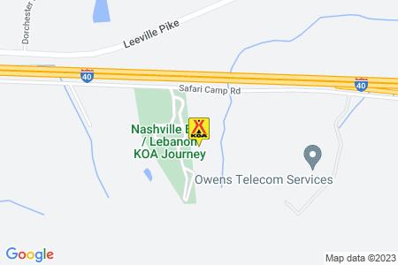 Nashville East / Lebanon KOA Map