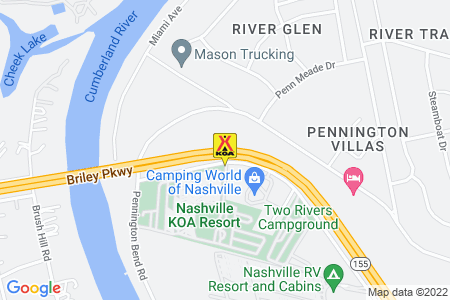 Nashville KOA Resort Map