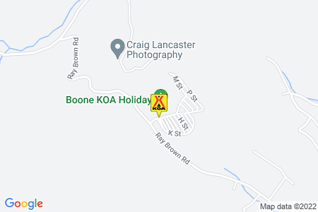Boone KOA Holiday Map