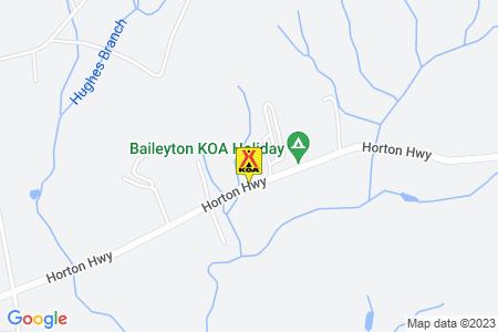 Baileyton KOA Map