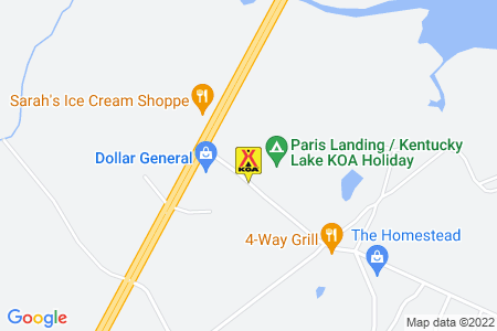 Paris Landing / Kentucky Lake KOA Map