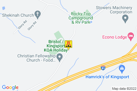 Bristol / Kingsport KOA Map