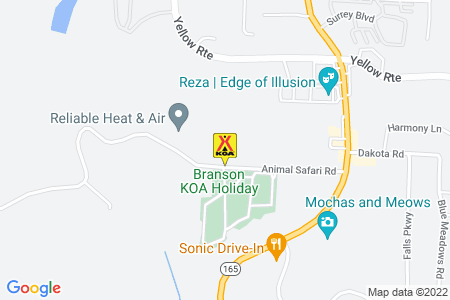 Branson KOA Holiday Map