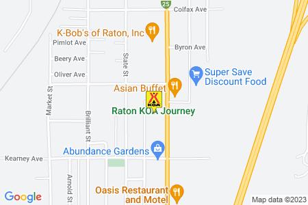 Raton KOA Map