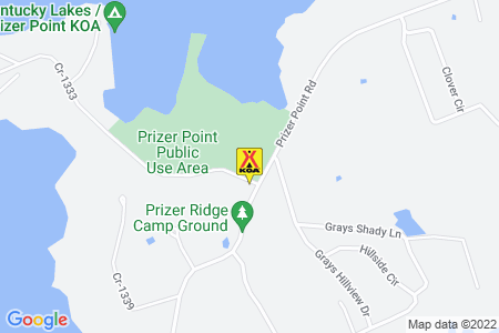 Kentucky Lakes / Prizer Point KOA Map