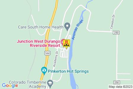 Durango North / Riverside KOA Map