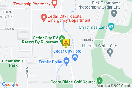 Cedar City KOA Map