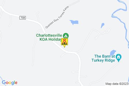 Charlottesville KOA Map