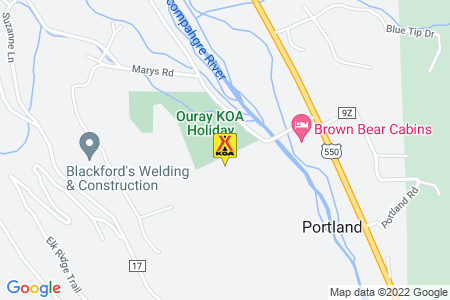Ouray KOA Map