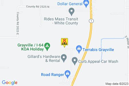 Grayville / I-64 KOA Map