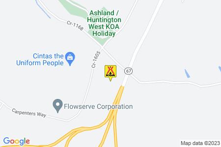 Ashland / Huntington West KOA Holiday Map