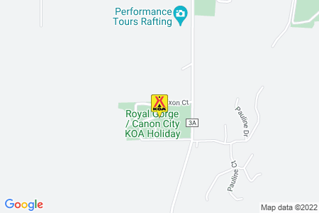 Royal Gorge / Canon City KOA Map