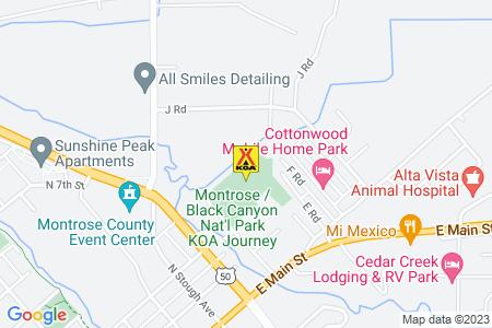 Montrose / Black Canyon Nat'l Park KOA Map