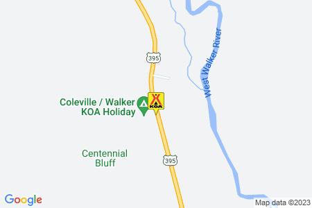 Coleville / Walker KOA Holiday Map