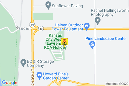Kansas City West / Lawrence KOA Map