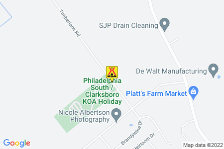 Philadelphia South / Clarksboro KOA Map